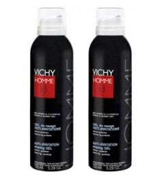 Vichy Homme Gel de Rasage Anti-Irritations 150ml Lot de 2 pas pas cher