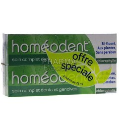 Homéodent Chlorophylle Soin Complet Dents et Gencives 75ml Lot de 2