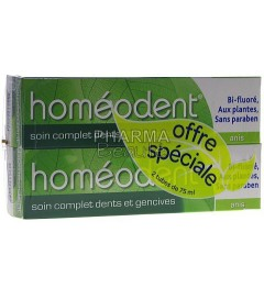 Homéodent Anis Soin Complet Dents et Gencives 75ml Lot de 2