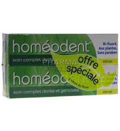 Homéodent Citron Soin Complet Dents et Gencives 75ml Lot de 2