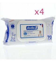 Dodie Lingettes Nettoyantes Lot de 4 Paquets de 70 pas cher
