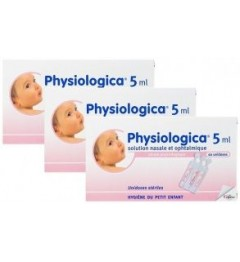 Physiologica Sérum Physiologique Lot de 3 Boites de 40 Unidoses