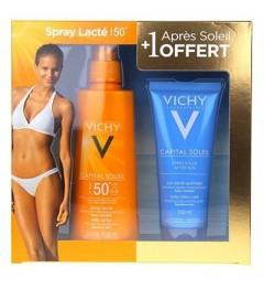 Vichy Capital Solaire Spray SPF50 200Ml et Après Soleil 100Ml Offert pas cher