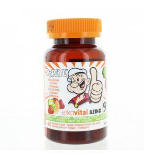 Azinc Popeye Gommes Vitaminées Boite de 60 pas cher