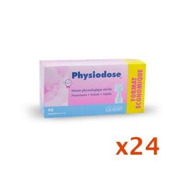 Physiodose Sérum Physiologique Lot de 24 Boites de 40