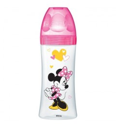 Dodie Biberon Initiation 330Ml Minnie Fushia Plus de 6 Mois