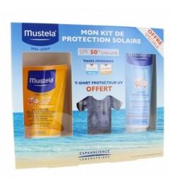 Mustela Solaire Lait SPF50 200Ml, Spray Après Solaire 125Ml et T-Shirt Anti UV Offert pas cher