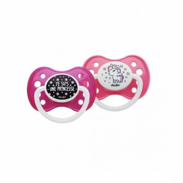 Dodie Sucette Silicone Duo Girly Plus de 6 Mois