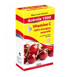 Vitamin 22 Acérola 1000 Vitamine C Naturelle 24 Comprimés à Croquer