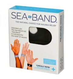 Sea Band 2 Bracelets Nausées Adulte Noir