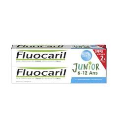 Fluocaril Dentifrice Junior 6 à 12 Ans Gel Bubble 2x75Ml
