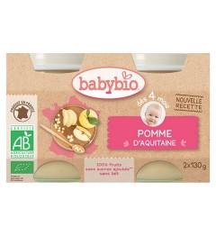 Babybio Petits Pots dès 4 mois Pomme 2x130 Grammes pas cher