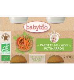 Babybio Mes Légumes dès 4 Mois Pot Carotte Potimarron 2x130 Grammes pas cher