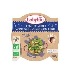 Babybio Bonne Nuit dès 12 Mois Assiette Légumes Verts Panais Boulghour 230 Grammes pas cher