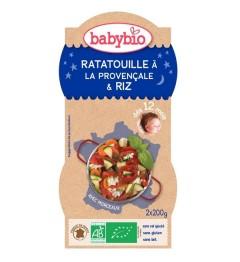 Babybio Bonne Nuit dès 12 Mois Bols Ratatouille Riz 2x200 Grammes pas cher