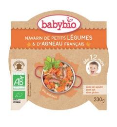 Babybio Menu du Jour dès 12 Mois Assiette Navarin de Petits Légumes Agneau 230 Grammes pas cher
