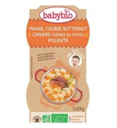 Babybio Menu du Jours dès 12 Mois Bols Panais Courge Butternut Canard Polenta 2x200 Grammes pas cher
