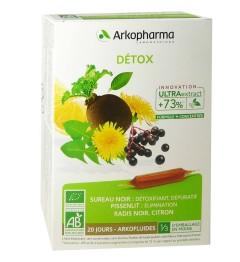 Arkofluide Détox Bio 20 Ampoules pas cher