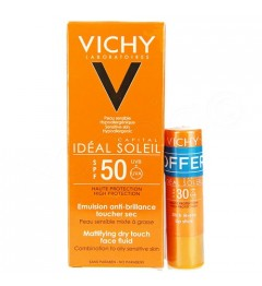 Vichy Ideal Soleil Emulsion SPF50 50Ml et Stick SPF30 Offert