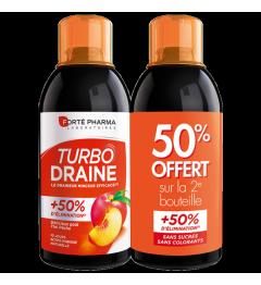 Forté Pharma TurboDraine Minceur Pêche 500ml Lot de 2 pas cher pas cher