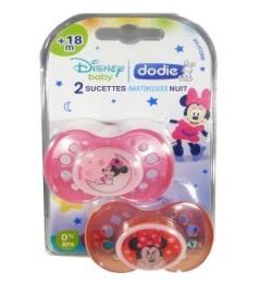 Dodie Sucette Silicone Duo Nuit Minnie Plus de 18 Mois