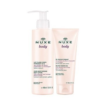 Nuxe Body Lait Fluide Corps Hydratant 24H 400ml + Gel Douche 200Ml