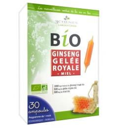Les 3 Chênes Bio Ginseng Gelée Royale Extra Fort 30 Ampoules pas cher