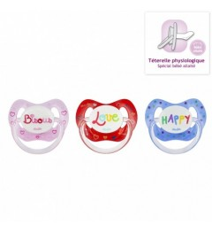 Dodie Sucette Physiologique + 18 Mois Silicone Love P61