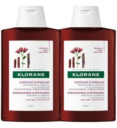 Klorane Shampoing Fortifiant à la Quinine 2x400ml pas cher
