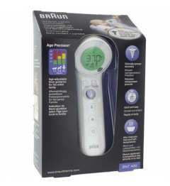 Braun Thermomètre Frontal Sans Contact BNT400WE pas cher
