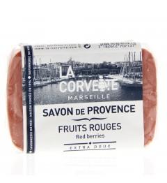 La Corvette Savon de Marseille Fruits Rouges 100 Grammes pas cher