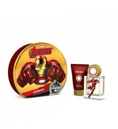 Iron Man Boite Métal Eau de Toilette 50Ml et Gel Douche 75Ml pas cher