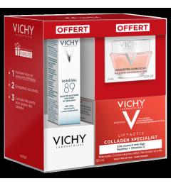 Vichy Liftactiv Collagen Specialist 50ml, Minéral 89 10Ml et Liftactiv Nuit 15Ml pas cher