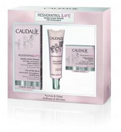 Caudalie Resveratrol Coffret Crème Yeux 15Ml, Sérum 10Ml et Crème 15Ml pas cher