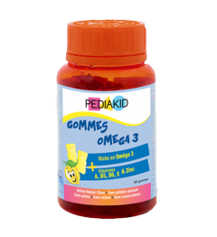 Pediakid Gommes Omega 3 60 Gommes pas cher