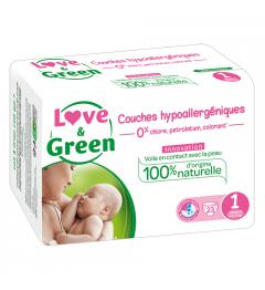 Love And Green Couches Hypoallergéniques Taille 1 2 à 5Kg Paquet de 23 pas cher