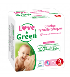 Love And Green Couches Hypoallergéniques Taille 4 7 à 14Kg Paquet de 46 pas cher