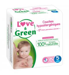 Love And Green Couches Hypoallergéniques Taille 5 11 à 25Kg Paquet de 40 pas cher