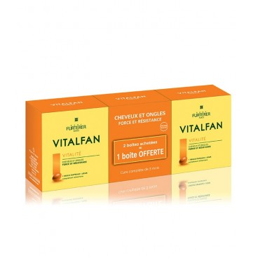 Furterer Vitalfan Vitalité Cheveux et Ongles Sans Colorant 3X30 Capsules