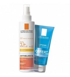 La Roche Posay Anthelios SPF50 Spray avec Parfum 200Ml et Gel Lavant 100Ml pas cher