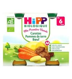 Hipp Carottes Pommes de Terre Boeuf 2x190 Grammes pas cher