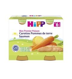 Hipp Carottes Pommes de Terre Saumon 2x190 Grammes pas cher