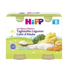 Hipp Tagliatelles Légumes Colin d'Alaska 2x190 Grammes pas cher