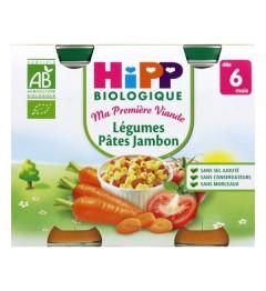 Hipp Légumes Pates Jambon 2x190 Grammes pas cher