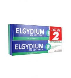 Elgydium Dents Sensibles Gel Lot de 2 Dentifrices 75Ml