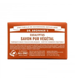 Dr Bronner's Pain de Savon Eucalyptus 140G pas cher