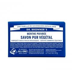 Dr Bronner's Pain de Savon Menthe Poivrée 140G pas cher
