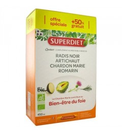 Superdiet Solution Buvable Quatuor Digestion 30 Ampoules pas cher