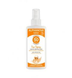 Alphanova Sun Bio Bébé SPF50 Spray 125 Grammes pas cher