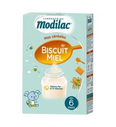 Modilac Céréales Biscuit Miel de 6 Mois à 3 Ans 300 g